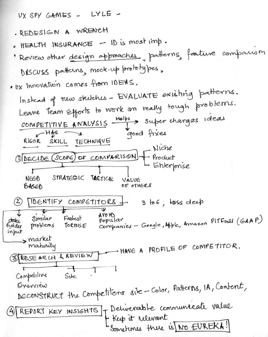 Notes on talk about UX